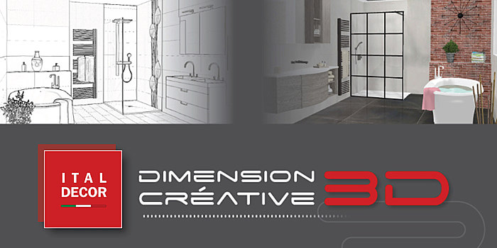 Mobile ital decor plan de salle de bain 3d